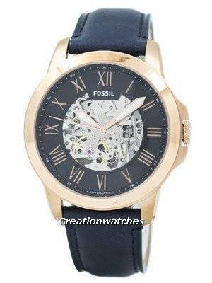 Refurbished Fossil Grant Automatic Navy Blue Skeleton Dial ME3102 Men's Watch