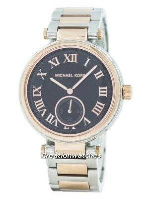 Refurbished Michael Kors Skylar Black Dial Two Tone MK5957 Women's Watch