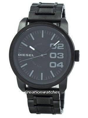 Refurbished Diesel Black Dial Black Textured Steel WR100M DZ1371 Men's Watch