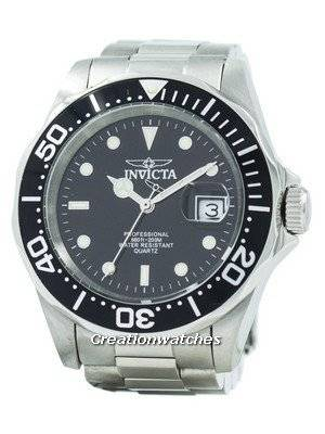 Refurbished Invicta Pro Diver 200M Quartz Black Dial 9307 Men's Watch