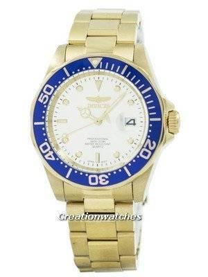 Refurbished Invicta Pro Diver Quartz Gold Ion Plated 200M 14124 Men's Watch
