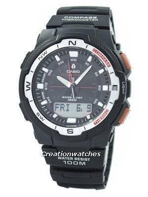 Refurbished Casio Analog-Digital Twin Sensor SGW-500H-1BV Men's Watch