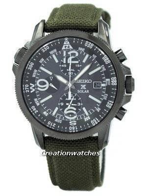 Refurbished Seiko Prospex Solar Military Alarm Chronograph SSC295 SSC295P1 SSC295P Men's Watch