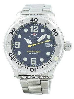 Refurbished Sicura Automatic Diver's 300M Crystal SM606MN Men's Watch