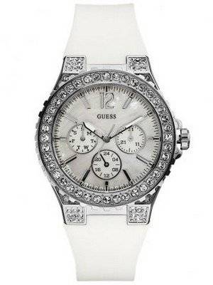 Guess White Crystal Quartz U12653L1 Womens Watch
