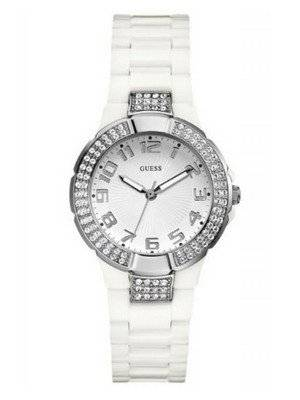 Guess Crystal White Plastic U95198L1 Womens Watch