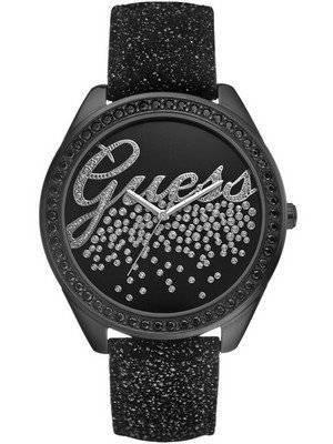 Guess Black Leather Quartz U96002L1 Womens Watch