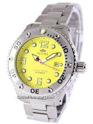 Refurbished Sicura Automatic Diver's 300M Crystal SM606MY Men's Watch