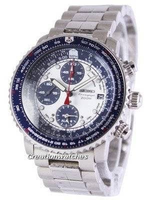 Refurbished Seiko Flight Alarm Chronograph Pilot's SNA413P1 SNA413P Men's Watch