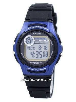 Casio Youth Digital 5 Alarms Illuminator W-213-2AVDF W-213-2AV Men's Watch