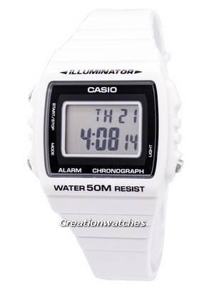 Casio Digital Alarm Chronograph W-215H-7AVDF W-215H-7AV Unisex Watch