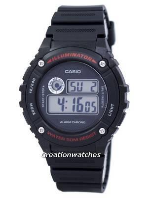 Casio Sports Illuminator Alarm Chrono Digital W-216H-1AV W216H-1AV Men's Watch