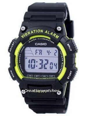 Casio Super Illuminator Vibration Alarm Dual Time Digital W-736H-3AV W736H-3AV Men's Watch