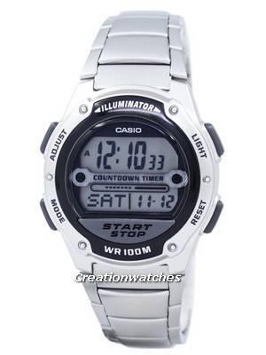 Casio Illuminator Countdown Timer Digital W-756D-1AV Men's Watch
