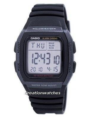 Casio Youth Digital Illuminator W-96H-1BVDF W96H-1BVDF Men's Watch