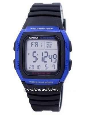 Casio Youth Series Illuminator Alarm Chronograph Digital W-96H-2AV Men's Watch