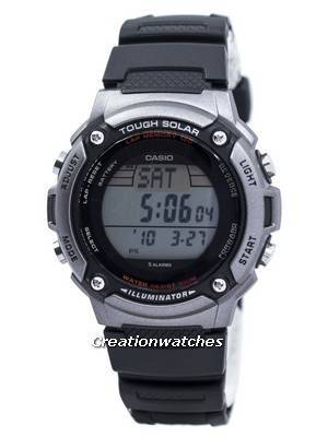 Casio Tough Solar Illuminator Lap Memory 120 Digital W-S200H-1AV WS200H-1AV Men's Watch