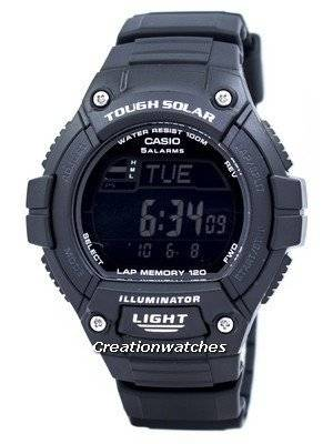 Casio Illuminator Tough Solar Lap Memory Alarm Digital W-S220-1BV Men's Watch