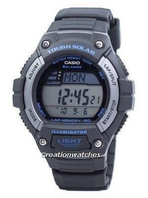 Casio Illuminator Tough Solar Lap Memory Alarm Digital W-S220-8AV WS220-8AV Men's Watch
