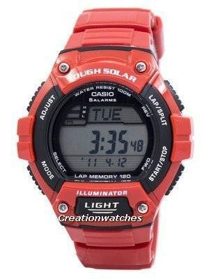Casio Illuminator Tough Solar Lap Memory Alarm Digital W-S220C-4AV Men's Watch
