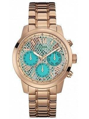 Guess Sunrise Multifunction Rose Gold Tone Quartz W0330L12 Women's Watch
