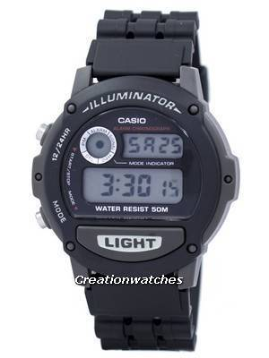 Casio Sports Illuminator Alarm Chronograph Digital W87H-1V Men's Watch