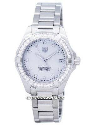 TAG Heuer Aquaracer Quartz Diamond Accent 300M WAY1314.BA0915 Women's Watch