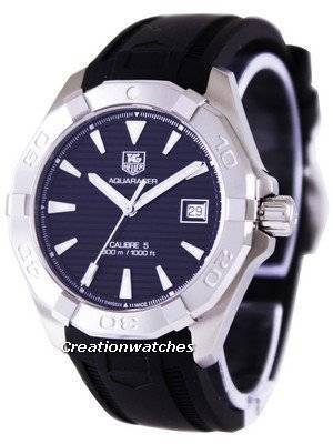 Tag Heuer Aquaracer Calibre 5 Black Dial 300M WAY2110.FT8021 Men's Watch