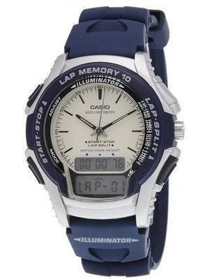 Casio Analog Digital Sports Runner Lap Memory WS-300-2EV Men's Watch