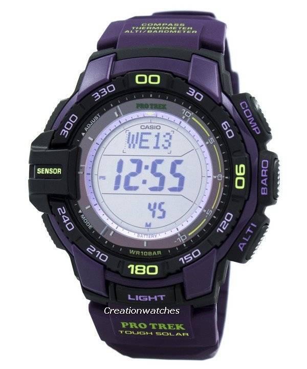 fcbfa1bf3288 Casio Protrek Tough Solar Triple Sensor PRG-270-6A orologio it