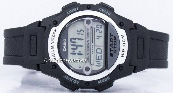 be1daffa8aa 카시오 조명 세계 시간 디지털 W-756-1AV W756-1AV 남자 시계 ko