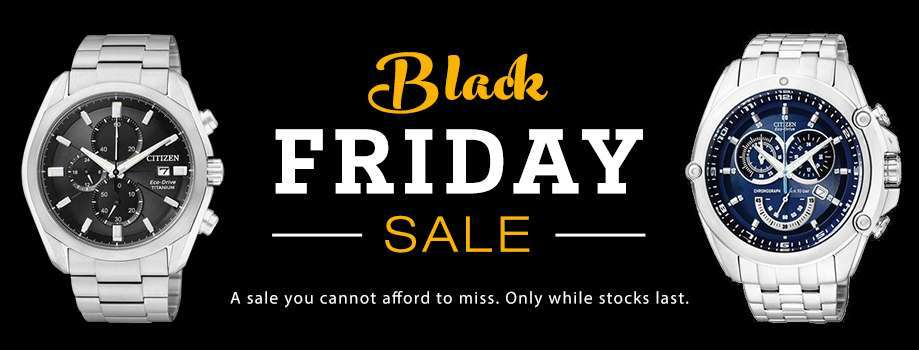 Black Friday Sale on Watches with huge discounts on Men's and Women's Watches