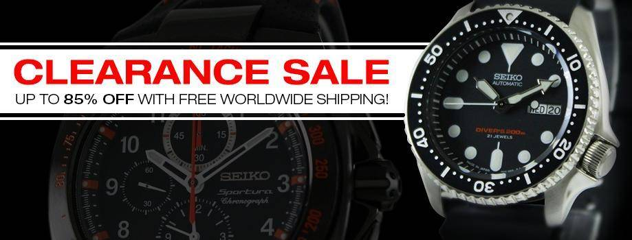 Clearance sale on watches with 85% off and free worldwide express shipping