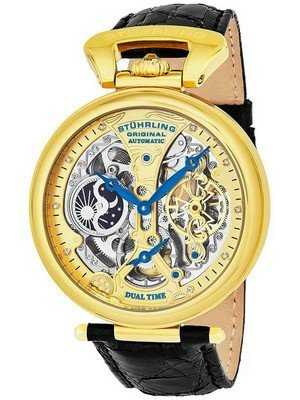 Stuhrling Original Emperor's Grand Dual Time Automatic 127A2.333519 Men's Watch