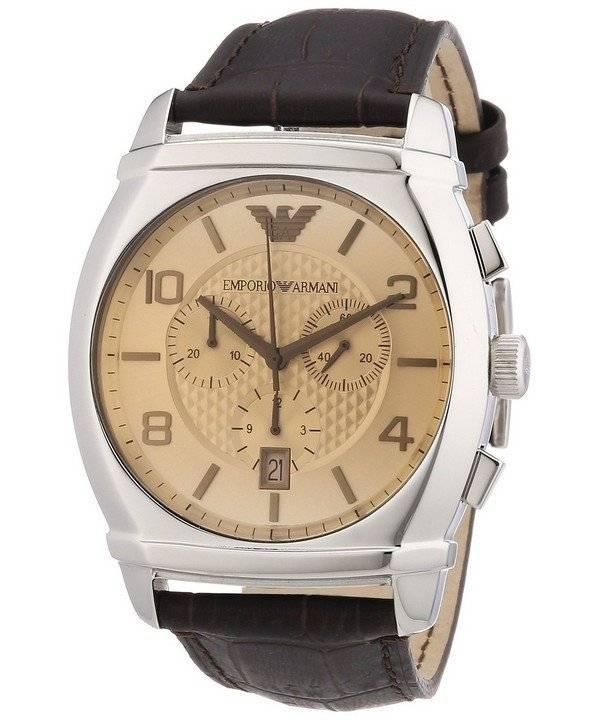 e0683790ddf Relógio Emporio Armani cronógrafo clássico AR0348 masculino pt