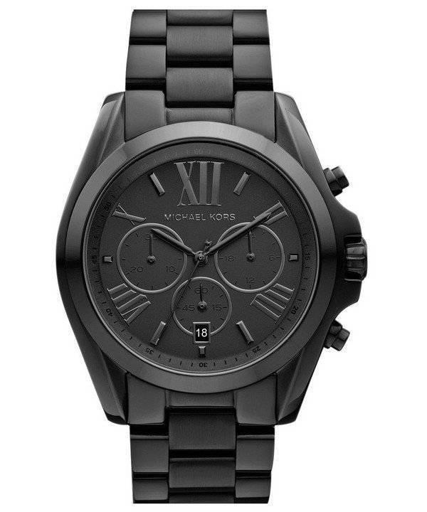 53ca4c6120b6b Michael Kors Bradshaw Chronograph Black Ion-plated MK5550 Unisex ...