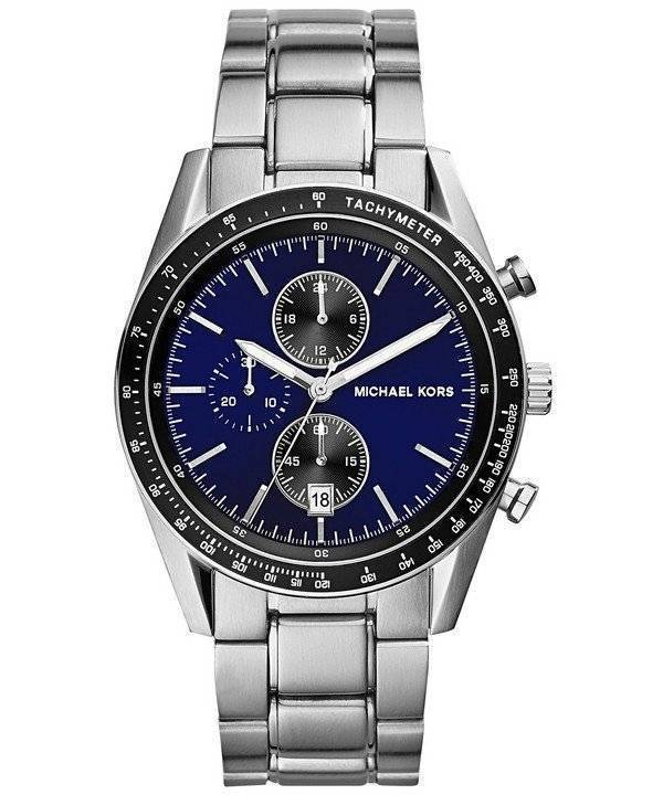 f75ea3712b7b3 Relógio Michael Kors acelerador Chronograph Dial azul MK8367 dos homens