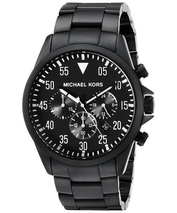 4fb1abcb82358 Michael Kors Gage relógio Chronograph Black Dial MK8414 masculino pt
