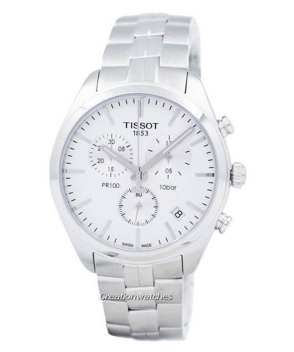 caa0f91e813 Relógio Tissot PR 100 quartzo cronógrafo T101.417.11.031.00 T1014171103100  masculino
