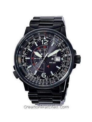 Citizen Promaster Sky Eco Drive NightHawk Pilot BJ7019-62E Watch
