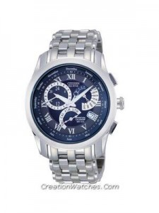 Citizen Eco-Drive Alarm Chronograph Perpetual Calendar BL8001-58L/BL8000-54L Men's Watch