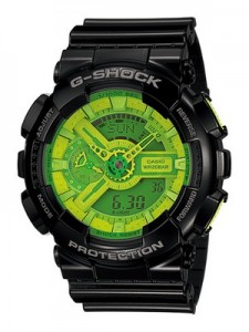 Casio G Shock GA-110B-1A3JF Hyper Colors Black and Green Watch
