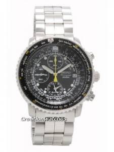 Seiko Flight Alarm Chronograph Pilots Watch