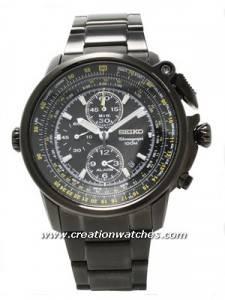 Seiko Chronograph Flight Master SNAB69P1 SNAB69P SNAB69 Men's Alarm Pilot's Watch