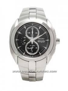 Seiko Men's Stainless Steel Arctura Chronograph Alarm Watch SNAC17P1 SNAC17P SNAC17