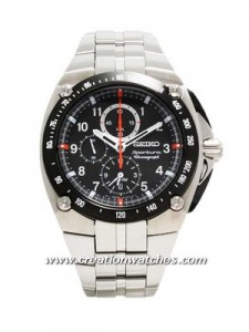 Seiko Sportura Alarm Chronograph Stainless Steel Bracelet SNAD23P1 SNAD23P SNAD23 Men's Watch