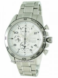 Seiko Sportura Chronograph Alarm SNAE59P1 Mens Watch