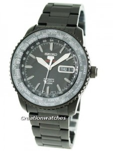 Seiko 5 Sports World Timer Automatic SRP129K1 SRP129 SRP129K Mens Watch
