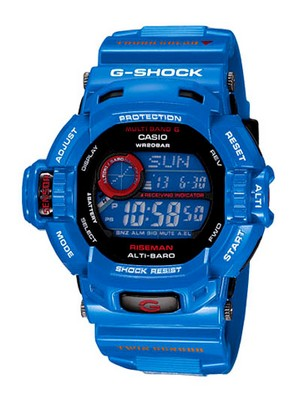 Casio G-shock Riseman GW-9200BLJ-2JF GW-9200BLJ Men In Earth Blue Multi Band 6 Watch