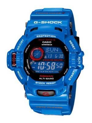 Casio G-shock Riseman GW-9200BLJ-2JF GW-9200BLJ Men In Earth Blue Multi Band 6 Watch